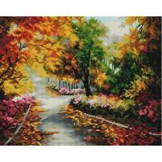 Осенняя мелодия Мозаика на подрамнике 40х50 40х50 Белоснежка 343-ST-S