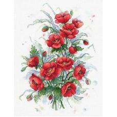 Набор Пламенные цветы 33х23 МП-Студия А-037