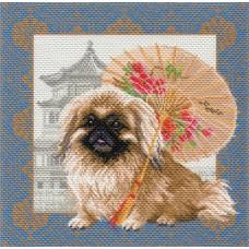 Пекинес в Пекине Рисунок на канве 41/41 41х41 (34х34) Матренин Посад 1694