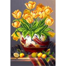 Тюльпаны Рисунок на шелке 37/49 37х49 (26х38) Матренин Посад 4100