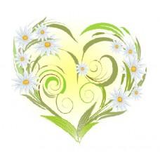 Ромашки-сердце Набор для вышивания лентами 28х34 (15х14) Матренин Посад 7028/Л