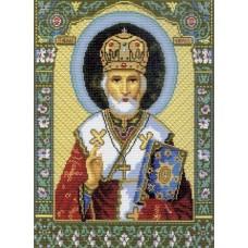 Икона Святой Николай Чудотворец Рисунок на канве 37/49 37х49 (29х40) Матренин Посад 540