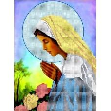 Богородица Святого Розария Рисунок на ткани 17х23 Каролинка ТКБИ 4007