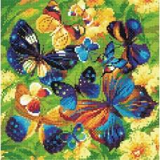 Яркие бабочки набор для выкладывания стразами 30х30 Риолис АМ0038