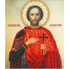 Набор Икона Святого Благоверного Великого Князя Александра Невск 15х12,5 Золотое руно РТ-126