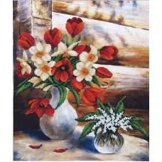 Набор Майские цветы 34х42 Магия канвы Б-070