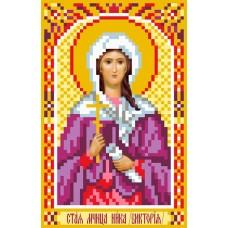 Святая Ника (Виктория) Рисунок на шелке 22/25 22х25 (9х14) Матренин Посад 3030
