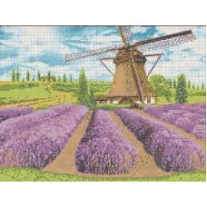 Цветущая лаванда Рисунок на канве 23х30 Каролинка КК 012