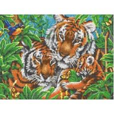 Тигры рисунок на канве 29/39 29х39 Конек 7810