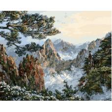 Китай. Хуаншань  живопись на холсте 40*50см 40х50 Белоснежка 196-AB