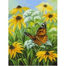 Цветочная поляна живопись на холсте 30*40см 30х40 Белоснежка 153-AS