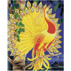 Жар-птица живопись на холсте 30х40