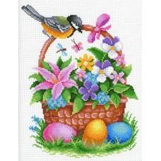 Пасхальные дары Рисунок на канве 30х40см 28х21(30х40) МП-Студия СК-074