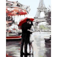 Под зонтом счастья живопись на холсте 40х50см 40х50 Paintboy GX3015