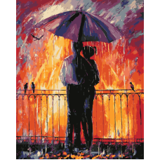 Цветной дождь живопись на холсте 40х50