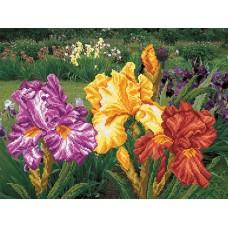 Радужный сад Набор для вышивания бисером 37х49 (29х39) Матренин Посад 0011/Б
