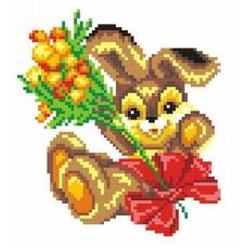 Заяц с букетом набор
