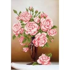 Свежие розы (рис. на ткани 39х27) 39х27 Магия канвы КС-064