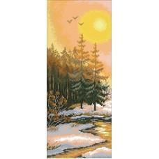 Закат на опушке Набор для вышивания крестом 30х50 (16х38) Матренин Посад 6015/СК