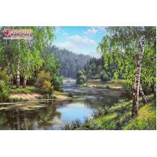 Родной берег Набор для выкладывания стразами 60х40 Алмазная живопись АЖ-1498