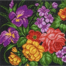 Цветы Набор для вышивания крестом 41х41 (34х34) Матренин Посад 1107/Н