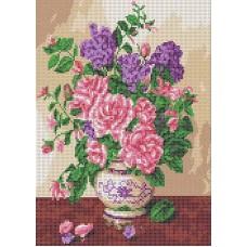 Запах роз Рисунок на ткани 24,3х35 Каролинка ТКБЦ 3047