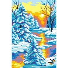 Зимний закат набор