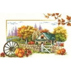 Осень набор для выкладывания стразами 65х45 Jing Cai Ge Diamond Painting DIY (Honey Home) 7529
