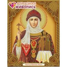 Икона Святая Княгиня Ольга набор для частичной  выкладки стразам 22х28 Алмазная живопись АЖ-5040