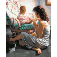 Мамина любовь живопись на холсте 40х50