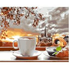 Романтический завтрак живопись на холсте 40х50см