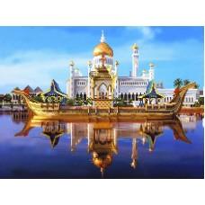 Мечеть Омара Али Канва с нанесенным фоном 37/49 37х49 (30х40) Матренин Посад 1797