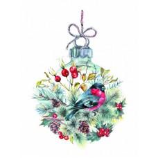 Рождественский шар Рисунок на шелке 28/34 28х34 (19х28) Матренин Посад 4243