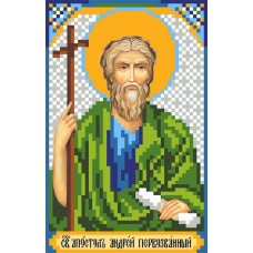 Святой Андрей Рисунок на шелке 22/25 22х25 (9х14) Матренин Посад 3026