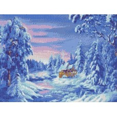 Зимняя сказка Рисунок на ткани 36х27 Каролинка ТКБП 3042