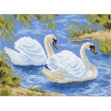 Тундровые лебеди Рисунок на канве 28/37 28х37 (21х29) Матренин Посад 0559-1