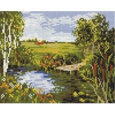 Речная прохлада Мозаика на подрамнике 20х25 20х25 см Белоснежка 555-ST-S