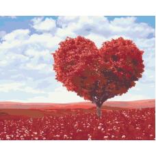 Дерево любви живопись на холсте 40х50