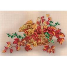 Натюрморт с листьями набор диз.канва+мулине 25х35 МП-Студия РК-336