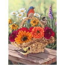 Набор Песня цветов вышивка лентами 18х24,2 Каролинка КЛ(Н)-4006