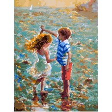 Танец на воде  живопись на холсте 30*40см 30х40 Белоснежка 288-AS