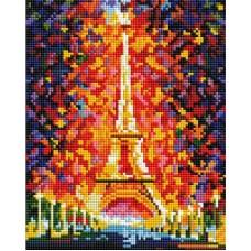 Париж - огни Эйфелевой башни Набор для выкладывания стразами 20х25 Белоснежка 002-ST-PS
