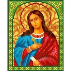 Набор Святая Марина бисер 13х16 Каролинка КБИН(Ч) 5007