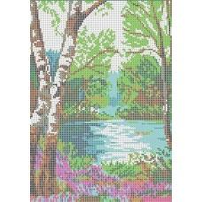 У реки Рисунок на ткани 21х27 Каролинка ТКБП 4001