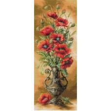 Пылающие маки Рисунок на канве 40/90 40х90 (30х77) Матренин Посад 1706