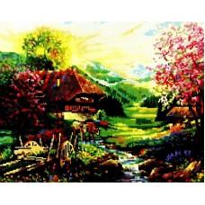 Летний домик мозаика на подрамнике 40х50 40х50 Painting Diamond GF1688