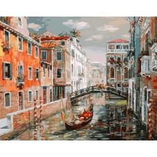 Венеция.Канал Сан Джованни Латерано живопись на холсте 40*50см
