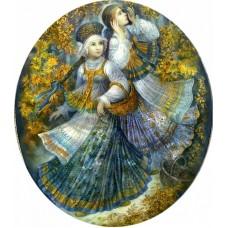 Осеннее богатство Набор для вышивания с бисером и паспарту 24х26 (14х16) Матренин Посад 0141/БП