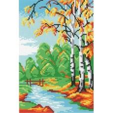 Последняя осень Рисунок на канве 30х21см 21х14(30х21) МП-Студия СК-045