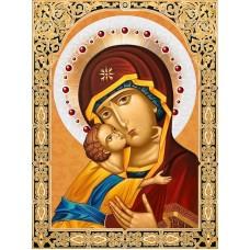 Икона Владимирская Богородица Набор для выкладывания стразами 30х40 Алмазная живопись АЖ-1844